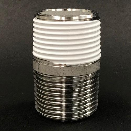 """1""""(1インチ)ネジにKS20-05(幅20mm)のシールテープを巻付"""