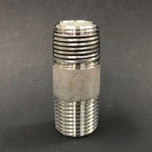 """1/2""""(4ブ)ネジに幅12.7mmの高温(400℃)耐熱シールテープ巻付"""